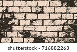 abstract  brick wall surface.... | Shutterstock .eps vector #716882263