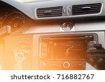 the car panel navigation | Shutterstock . vector #716882767