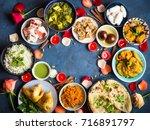 festive food for indian... | Shutterstock . vector #716891797