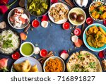 festive food for indian... | Shutterstock . vector #716891827