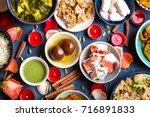 festive food for indian...   Shutterstock . vector #716891833