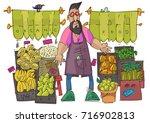 A Bearded Hipster Vendor Man...