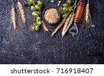 concept of beer ingredient.... | Shutterstock . vector #716918407
