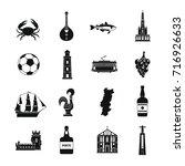 portugal travel icons set....   Shutterstock .eps vector #716926633