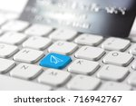 credit card payment for online... | Shutterstock . vector #716942767