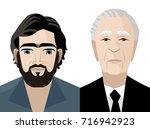 face cartoon portraits of great ... | Shutterstock .eps vector #716942923