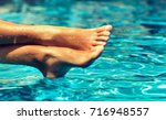 perfect clean female feet above ... | Shutterstock . vector #716948557