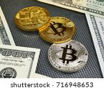 Golden And Silver Bitcoin And...