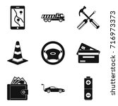 belay icons set. simple set of... | Shutterstock .eps vector #716973373