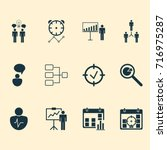 administration icons set.... | Shutterstock .eps vector #716975287