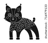 lynx  single icon in black... | Shutterstock .eps vector #716979133