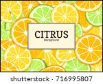 rectangle label on tropical... | Shutterstock . vector #716995807