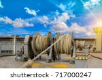 mooring winches on deck for... | Shutterstock . vector #717000247