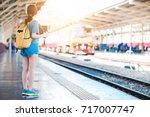 teen asian girl waiting for... | Shutterstock . vector #717007747