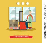 illustration of worker loader... | Shutterstock . vector #717010117