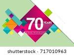 70th years anniversary logo ...