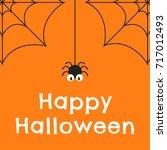 halloween background vector... | Shutterstock .eps vector #717012493
