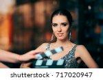 glamorous model starring in... | Shutterstock . vector #717020947