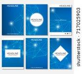 scientific brochure design...   Shutterstock .eps vector #717025903