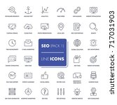line icons set. seo pack.... | Shutterstock .eps vector #717031903