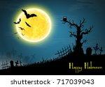 halloween card banner. eps10 | Shutterstock .eps vector #717039043