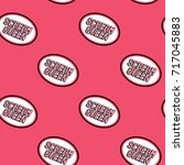 seamless pattern with patches ... | Shutterstock .eps vector #717045883