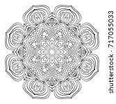 mandala. black and white... | Shutterstock . vector #717055033