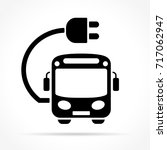 illustration of electric bus...   Shutterstock .eps vector #717062947