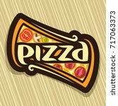 Vector Poster For Pizza  Label...