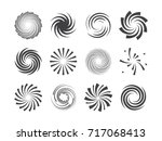 spiral and swirl motion... | Shutterstock .eps vector #717068413