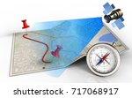 3d illustration of city map... | Shutterstock . vector #717068917