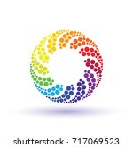 colorful circle logo with... | Shutterstock .eps vector #717069523