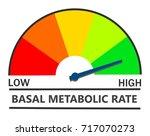 metabolic rate indicator | Shutterstock . vector #717070273