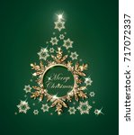 christmas and new year green... | Shutterstock .eps vector #717072337