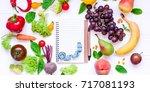 healthy food  diet eating ... | Shutterstock . vector #717081193