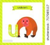 letter u lowercase cute... | Shutterstock .eps vector #717085117