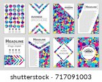 abstract vector layout... | Shutterstock .eps vector #717091003