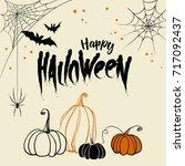 trick or treat lettering design.... | Shutterstock .eps vector #717092437