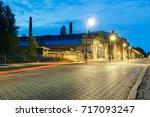 cast iron bridge on penkovy... | Shutterstock . vector #717093247