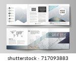 set of business templates for... | Shutterstock .eps vector #717093883