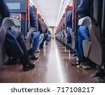 people sit in train japan train ... | Shutterstock . vector #717108217