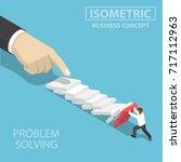 flat 3d isometric 3d... | Shutterstock .eps vector #717112963