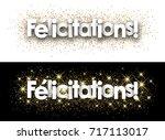 congratulations paper banner... | Shutterstock .eps vector #717113017