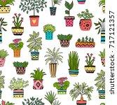 seamless pattern made of...   Shutterstock .eps vector #717121357