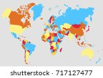 color world map. | Shutterstock .eps vector #717127477