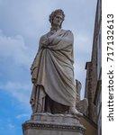 Small photo of Famous statue of Dante Alighieri at Santa Croce Square in Florence