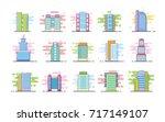 set of modern skyscrapers...   Shutterstock .eps vector #717149107