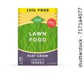 lawn fertilizer packaging... | Shutterstock .eps vector #717164077