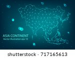 vector map   abstract mash... | Shutterstock .eps vector #717165613