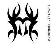 tribal tattoo art designs.... | Shutterstock .eps vector #717174343